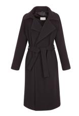Paño de lana en negro con corte perfecto de Sandro - http://us.sandro-paris.com/malory-black-belted-wrap-coat.html?___store=sandro