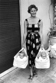 Ingrid Brgman with her twins