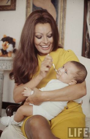 Sophia Loren and Baby